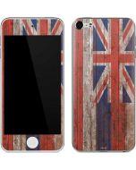 Hawaiian Flag Dark Wood Apple iPod Skin