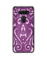 Heart Purple LG K51/Q51 Clear Case