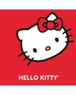 Hello Kitty Cropped Face Red Surface Laptop Skin