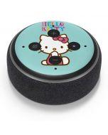 Hello Kitty Blue Background Amazon Echo Dot Skin