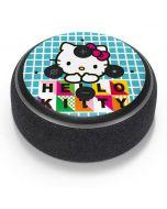Hello Kitty Blue Pattern Amazon Echo Dot Skin