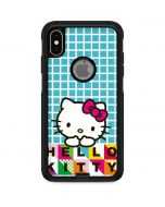 Hello Kitty Blue Pattern Otterbox Commuter iPhone Skin
