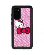 Hello Kitty Pink Bow Peek Galaxy S20 Waterproof Case