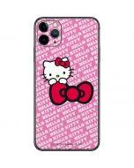 Hello Kitty Pink Bow Peek iPhone 11 Pro Max Skin
