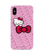 Hello Kitty Pink Bow Peek iPhone XS Max Lite Case