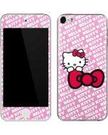 Hello Kitty Pink Bow Peek Apple iPod Skin