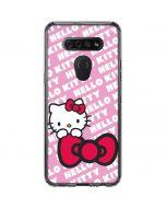 Hello Kitty Pink Bow Peek LG K51/Q51 Clear Case