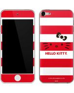 Hello Kitty Red Stripes Apple iPod Skin