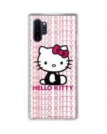 Hello Kitty Repeat Galaxy Note 10 Plus Clear Case