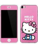 Hello Kitty Sitting Pink Apple iPod Skin