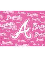 Atlanta Braves - Pink Cap Logo Blast Apple iPad Skin