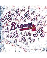 Atlanta Braves - White Primary Logo Blast Galaxy S6 Edge Skin