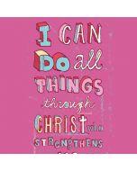 Philippians 4:13 Pink LifeProof Nuud iPhone Skin