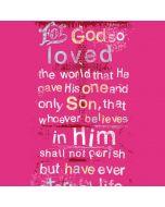 John 3:16 in Pink Galaxy S7 Edge Lite Case