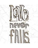 Love Never Fails Apple iPad Skin