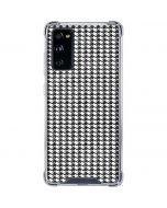 Houndstooth Black/White Galaxy S20 FE Clear Case