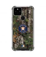 Houston Astros Realtree Xtra Green Camo Google Pixel 5 Clear Case