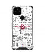 Houston Rockets Historic Blast Google Pixel 5 Clear Case