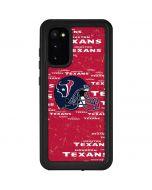Houston Texans - Blast Galaxy S20 Waterproof Case