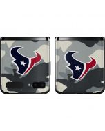 Houston Texans Camo Galaxy Z Flip Skin