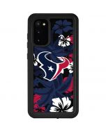 Houston Texans Tropical Print Galaxy S20 Waterproof Case