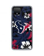 Houston Texans Tropical Print Google Pixel 4 XL Clear Case