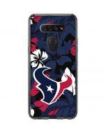 Houston Texans Tropical Print LG K51/Q51 Clear Case