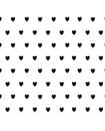 White and Black Hearts iPhone XS Max Cargo Case