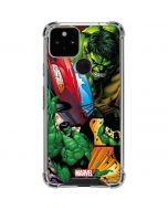 Hulk in Action Google Pixel 5 Clear Case