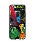 Hulk in Action LG K51/Q51 Clear Case