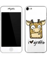 I HEART giraffe Apple iPod Skin