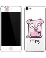I HEART pig Apple iPod Skin