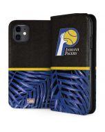 Indiana Pacers Retro Palms iPhone 11 Folio Case