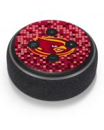 Iowa State Checkered Amazon Echo Dot Skin