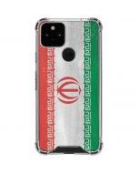 Iran Flag Distressed Google Pixel 5 Clear Case