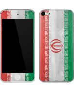 Iran Flag Distressed Apple iPod Skin