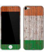 Ireland Flag Dark Wood Apple iPod Skin