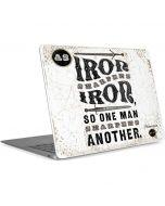 Iron Sharpens Iron Apple MacBook Air Skin