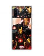 Ironman in Battle Galaxy Note 10 Plus Clear Case