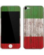 Italian Flag Dark Wood Apple iPod Skin