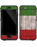 Italian Flag Dark Wood LifeProof Nuud iPhone Skin