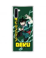 Izuku Midoriya Galaxy Note 10 Clear Case
