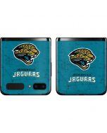 Jacksonville Jaguars Distressed Galaxy Z Flip Skin