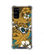Jacksonville Jaguars Tropical Print Galaxy S20 FE Clear Case