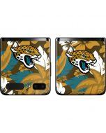 Jacksonville Jaguars Tropical Print Galaxy Z Flip Skin