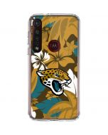 Jacksonville Jaguars Tropical Print Moto G8 Plus Clear Case