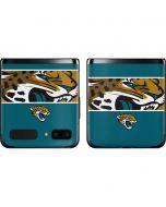 Jacksonville Jaguars Zone Block Galaxy Z Flip Skin