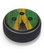 Jamaican Flag Dark Wood Amazon Echo Dot Skin