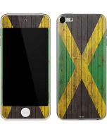 Jamaican Flag Dark Wood Apple iPod Skin