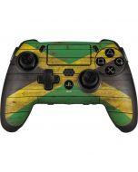Jamaican Flag Dark Wood PlayStation Scuf Vantage 2 Controller Skin